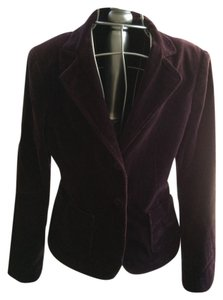 BCBGMAXAZRIA Velvet Winter Purple Jacket