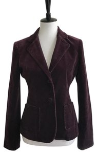 BCBGMAXAZRIA Velvet Winter Coat Purple Jacket