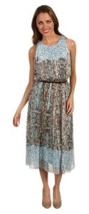 Baby Blue and Brown Maxi Dress by Vince Camuto