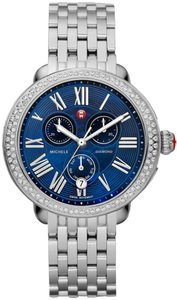 Michele MICHELE SEREIN STAINLESS STEEL BLUE MOP 40MM CHRONO DIAMOND WATCH