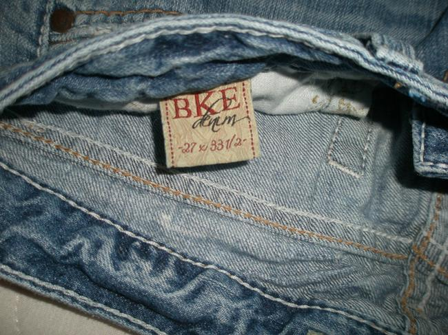 BKE Classic 5 Pocket Style *zip Fly Cotton *machine Washable *destructed Wash *low Rise *whiskering & Distressing Detail & Boot Cut Jeans-Light Wash