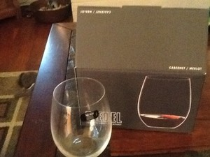 Reidel Crystal Merlot And Chardoanny Stemless Glasses