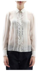 Dolce&Gabbana Lace Sheer Classic Icon Haute Top White