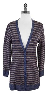 Missoni Multi Color Metallic Striped Cardigan