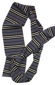 Burberry Striped Lambswool Long Scarf
