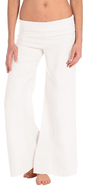 Preload https://item2.tradesy.com/images/white-rollover-linen-in-wide-leg-pants-size-8-m-29-30-1260781-0-0.jpg?width=400&height=650