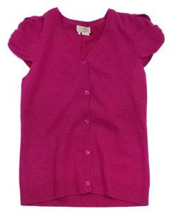 Kate Spade Magenta Cap Sleeve Button Down Button Down Cardigan