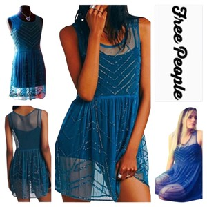 Free People short dress Jewel Blue on Tradesy