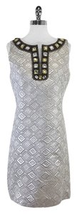 Tory Burch short dress Silver Embossed Geo Print on Tradesy