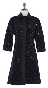 Tory Burch Long Black Sequin Emroidered Jacket