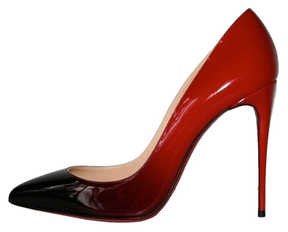a044cdbbbc ... Pointed Toe Pumps Black Red larger image Christian Louboutin Pigalle  Follies 100 100mm Degrade Patent Leather Black Ombre So Kate Pigalle Follies  100 ...