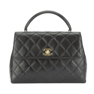 Chanel Black Lambskin Kelly Satchel
