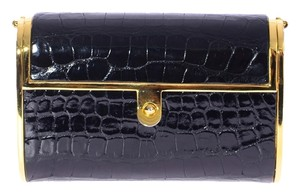 Judith Leiber Croc Embossed Crocodile Leather Minaudiere Case Minaudiere Handbag Cross Body Bag