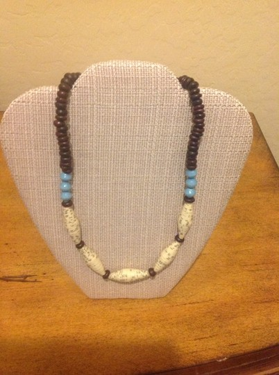 Ember Elong Necklace With Blue Beads