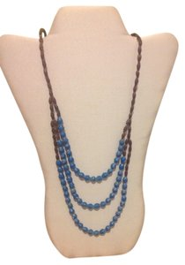 Ember Three Strand Bead Necklace