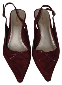 Predictions Slingback Patent red Pumps