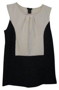 Ann Taylor Top Black and Off White