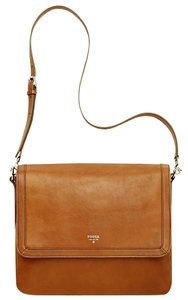 Fossil Purse Tan Long Strap Cross Body Bag