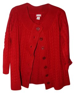 Motherhood Maternity 3/4 sleeve Maternity Cardigan Red