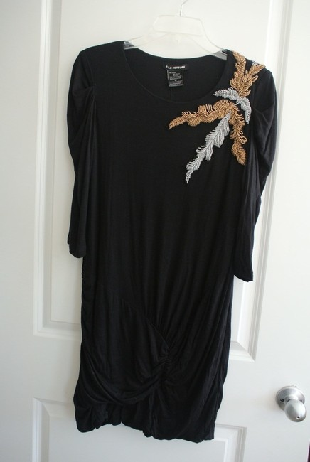 KAS New York Lbd Medium Going Out Beaded Holiday Dress