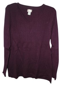 Motherhood Maternity L/S V-neck Maternity Sweater Purple