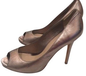 Saks Fifth Avenue Gold/Bronze Platforms