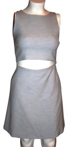 Thakoon short dress GRAY Cut Out Mid Section on Tradesy
