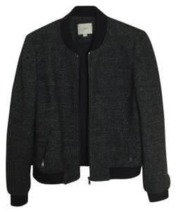 Ann Taylor LOFT Bomber Knit Crop Motorcycle Jacket