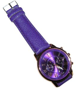 Geneva Purple & Rose Gold Quartz Ladies Watch Free Shipping