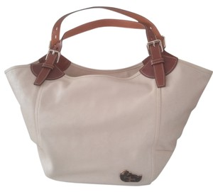 Dooney & Bourke Tote in bone with brown trim