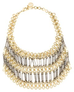 Tory Burch Tory Burch Gold and Silver Large Bib Chain Statement Necklace!