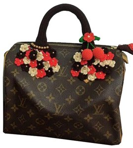 Other Handmade Handle Covers For Louis Vuitton Speedy Alma trouville montaigne Deauville Crochet Red