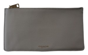 Coach White leather zip wallet