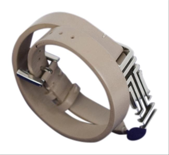 Item - French Gray Fitbit Double Wrap Leather Bracelet