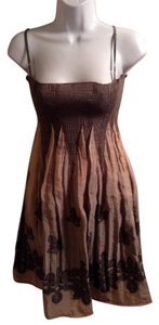 HK by Heidi Klum short dress tan multi color on Tradesy