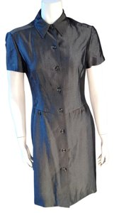 Oscar de la Renta short dress Silver Charcoal on Tradesy