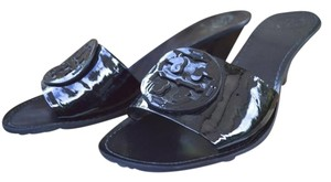 Tory Burch Logo Size 10 Black Sandals