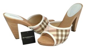 Burberry Pink Multi Mules