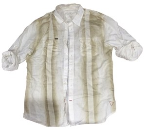 Guess Button Down Shirt Off white