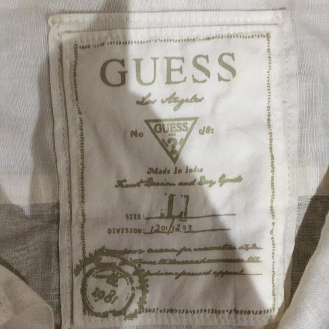 Guess Button Down Shirt Off white Image 1