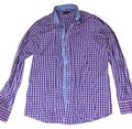 Sand Button Down Shirt Purple blue