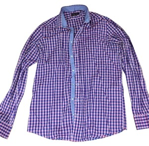 Sandro Button Down Shirt Purple blue
