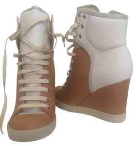 See by Chloé Off White Light Brown Boots