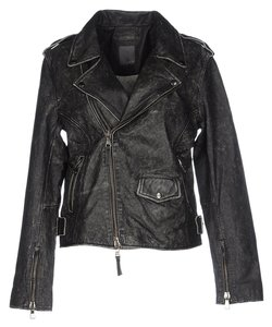 Lot 78 41604472th Biker Gray Leather Leather Jacket