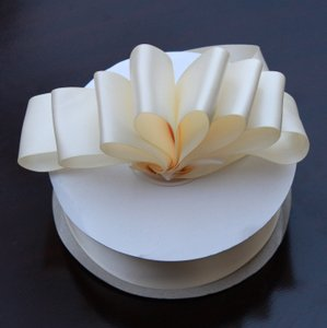 Ivory Satin Ribbon 1.5 Inch X 10 Yards - Double Faced Satin Ribbon For Sash Or Ceremony Decoration