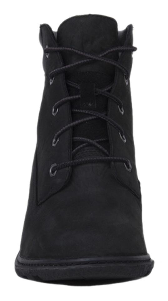 Timberland Black Nubuck Women s Amston 6 Inch Wedge Boots Booties ... 4abba1472393