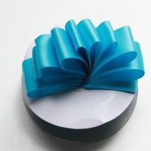 Turquoise Satin Ribbon 1.5 Inch X 10 Yards - Double Faced Satin Ribbon For Sash Or Decoration