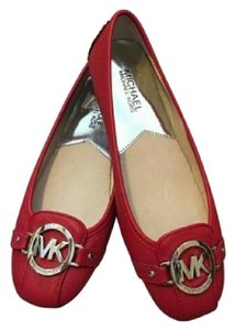 Michael Kors Red Patent Leather Flats
