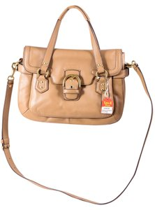 Coach Leather Crossbody Bucket Satchel in Beige