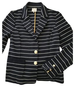 Karen Walker Navy and White Blazer